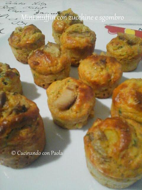 Mini muffin con zucchine e sgombro piccante