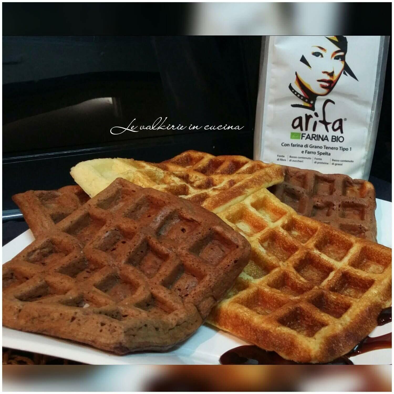 Pancake waffel con farina bio arifa