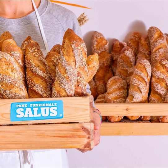 Semi-finished mix for functional bread Salus