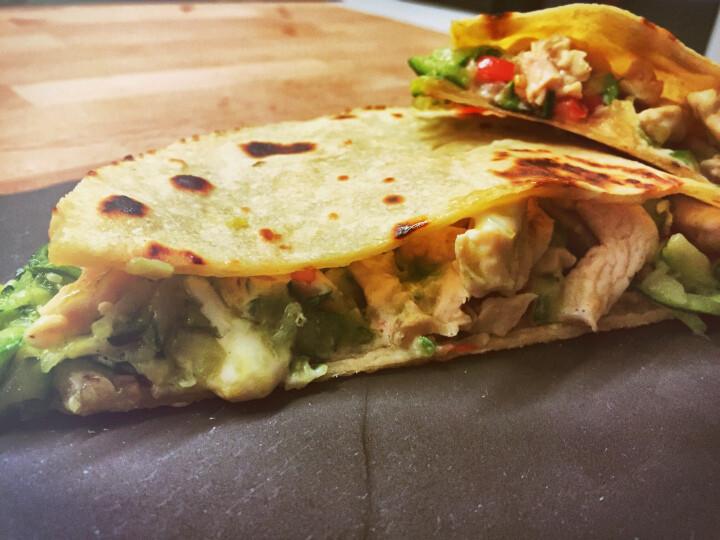 Quesadillas pollo formaggio zucchine