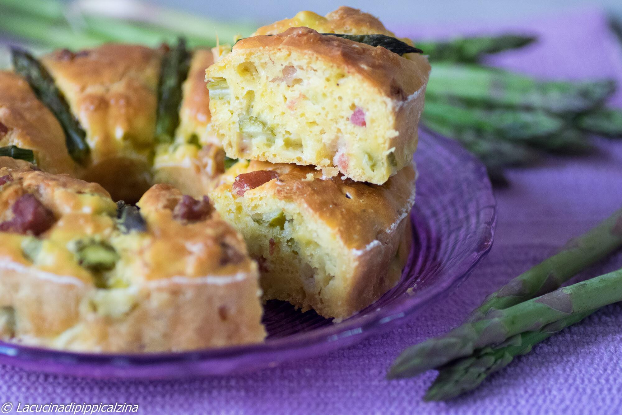 Ciambella saporita asparagi e pancetta