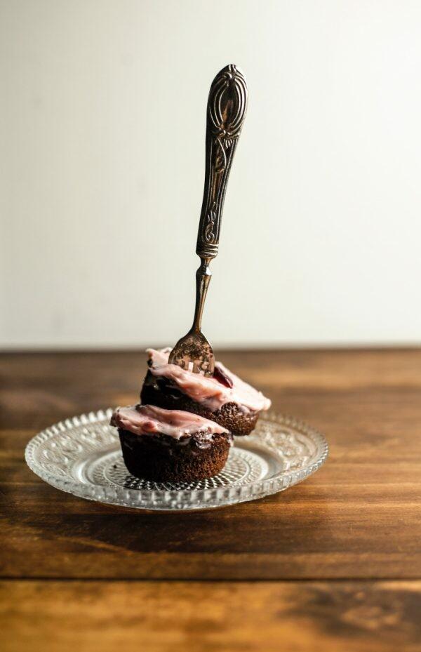 Cupcake al cacao amaro e burro