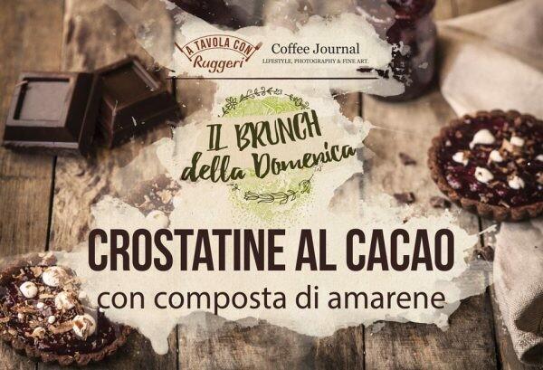 Crostatine al cacao con composta di amarene