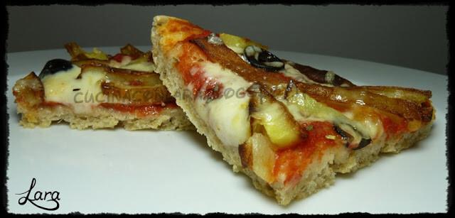 Pizza in teglia con grani antichi