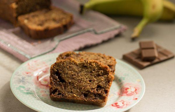 Plumcake rustico banane e cioccolato | Farina di Grano Tenero Tipo 1
