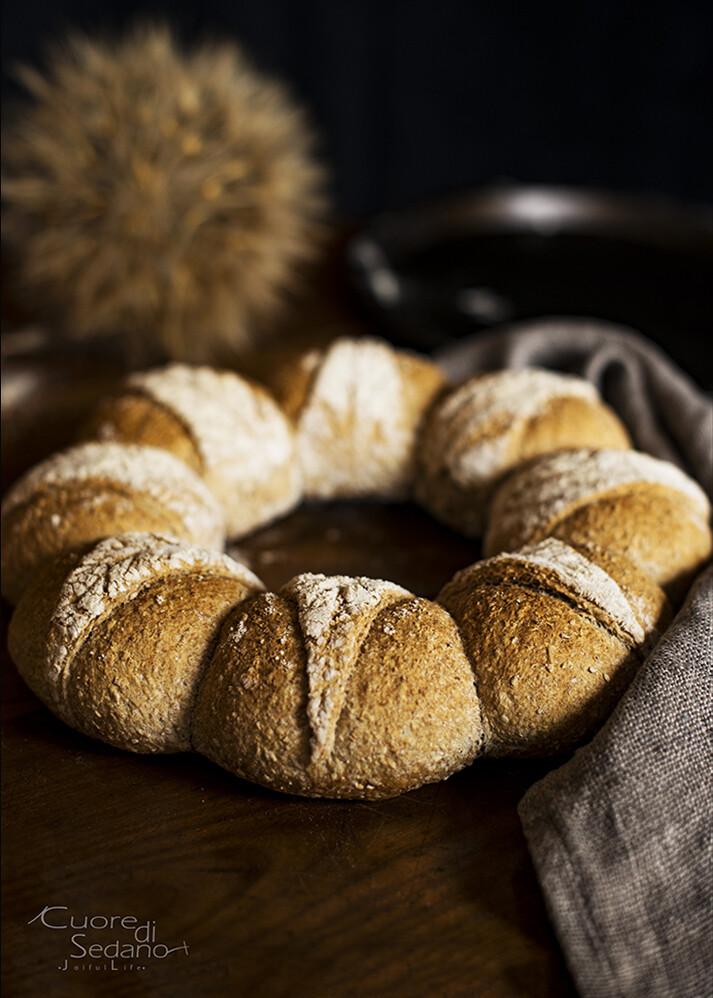 Corona di pane integrale   Preparato per Pane Integrale