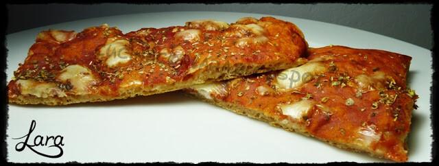 Pizza in teglia con semola integrale