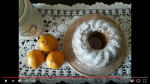 Ciambella soffice all'arancia, video ricetta Bimby