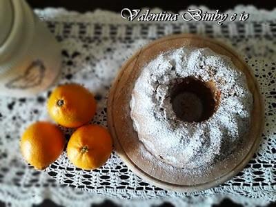 Ciambella soffice all'arancia senza latte e senza burro con il Bimby