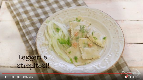 Video tutorial, Tortelli al salmone con Pasta Gurmé Ruggeri