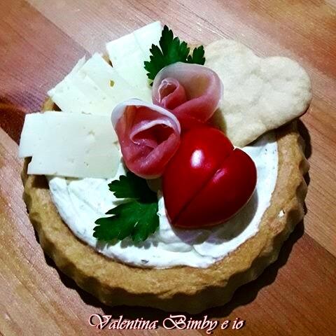 Crostatine di frolla salate, ricetta Bimby