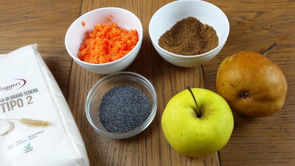 Muffin vegani alla frutta e semi di papavero | Farina di Grano Tenero Tipo 2