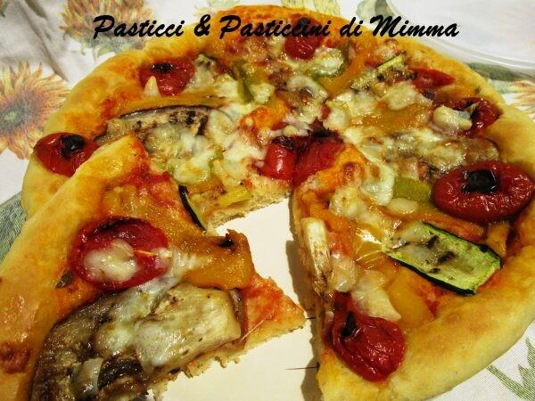 Pizza con verdure gligliate