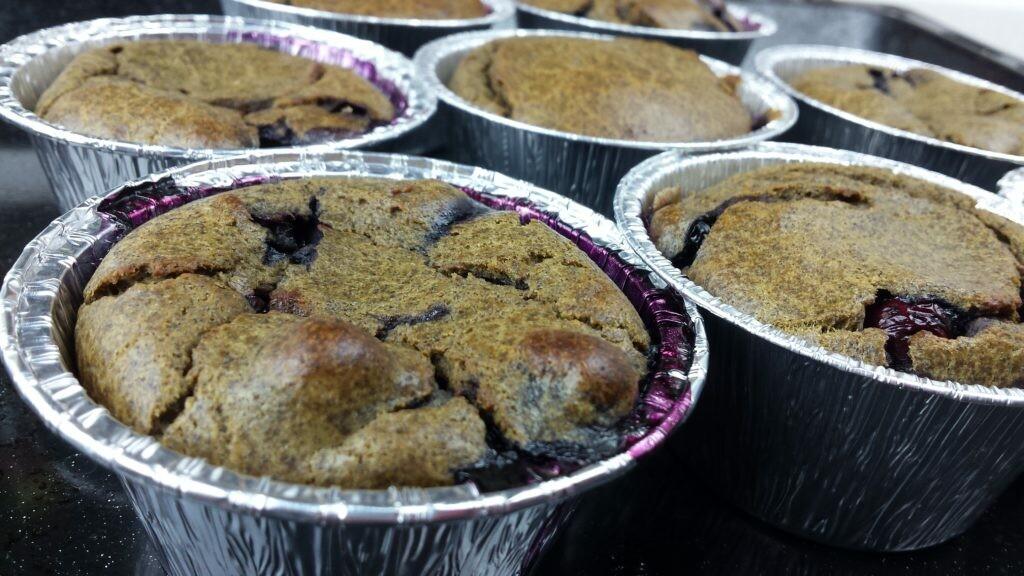 Muffin ai mirtilli con Farina di Canapa