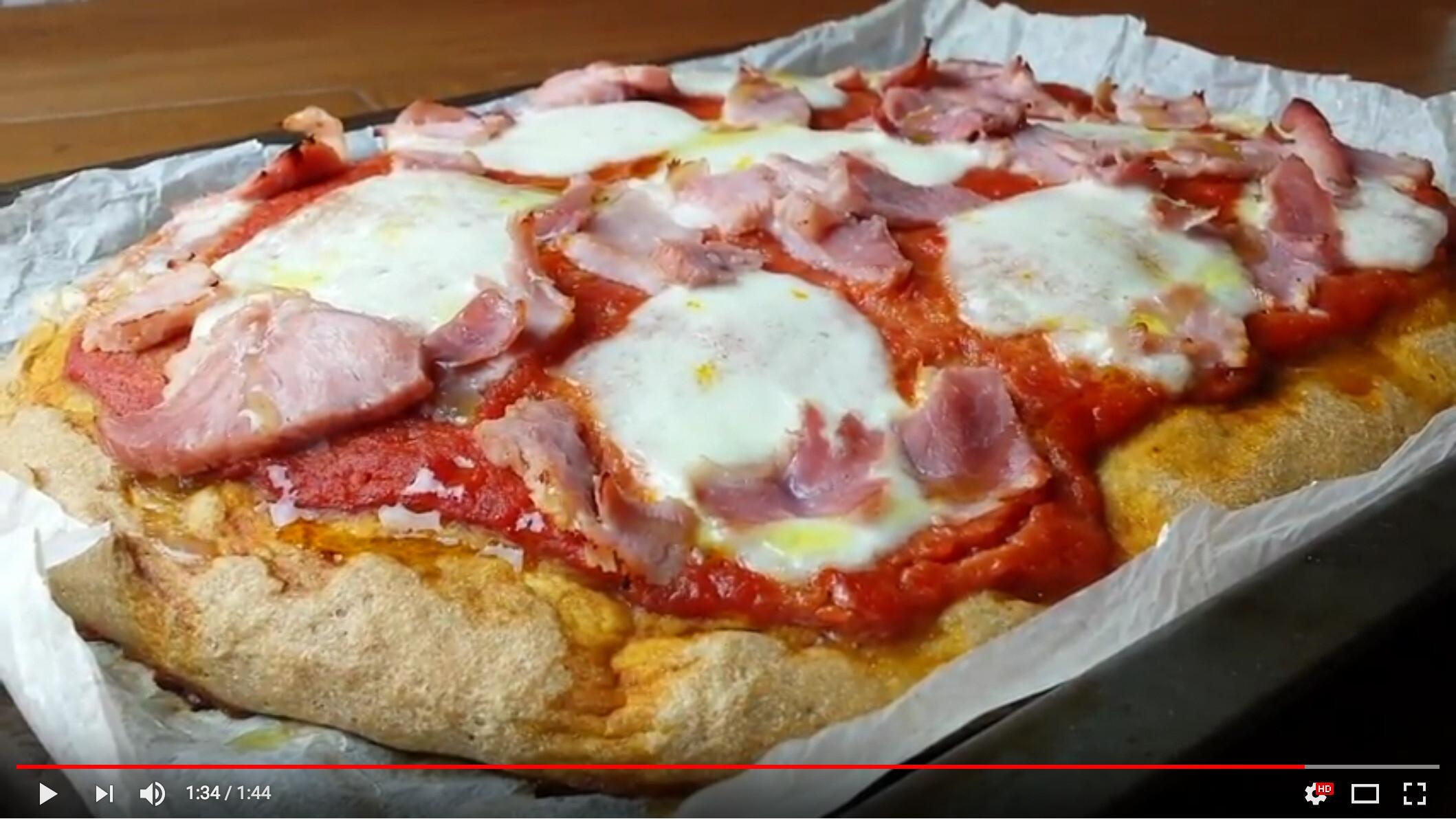 Video ricetta, Pizza integrale con Lievito Madre Attivo con Germe di Grano