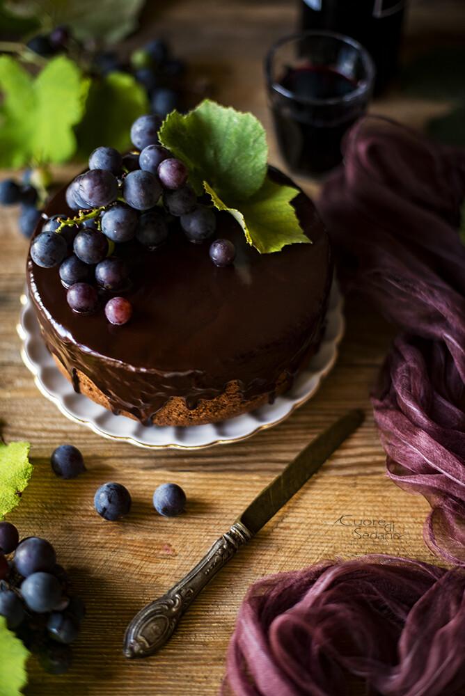 Torta Al Vino Rosso Con Cioccolato Fondente