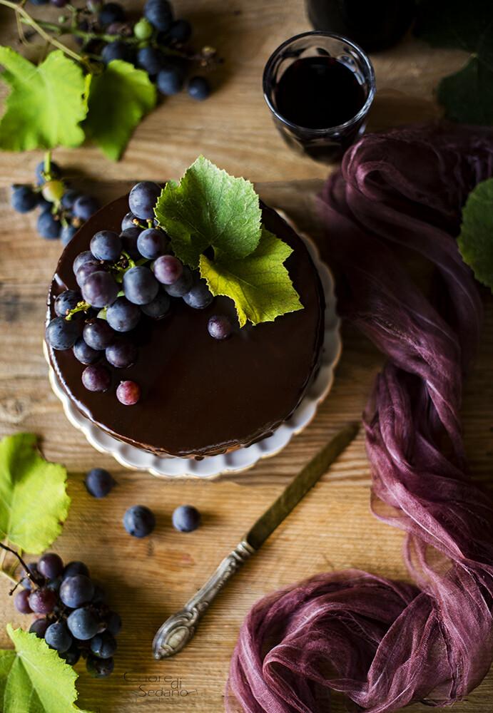 Torta al vino rosso e cioccolato fondente | Arifa Farina Bio