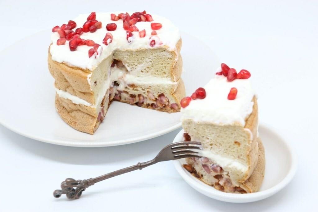 Pancake bianco e rosso