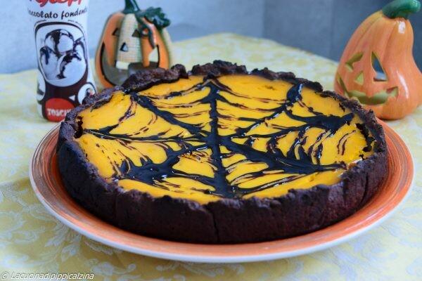 Crostata di Halloween al cacao e zucca | Farina di Grano Tenero Tipo 1