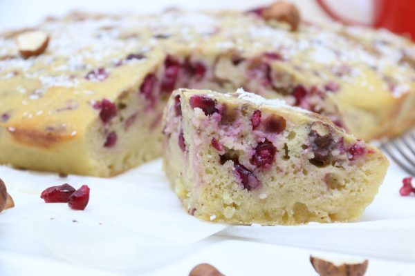 Blondies al melograno | Farina di Riso