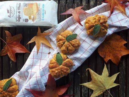 Pagnotte alla zucca e mais | Preparato per Pane Soffio di Mais