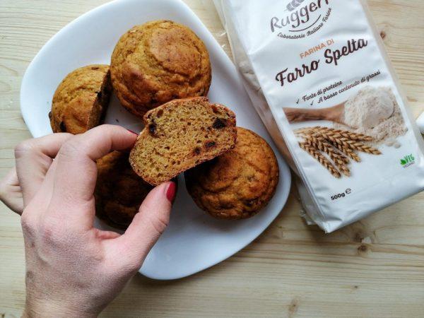 Muffin al farro e zucca | Farina di Farro Spelta
