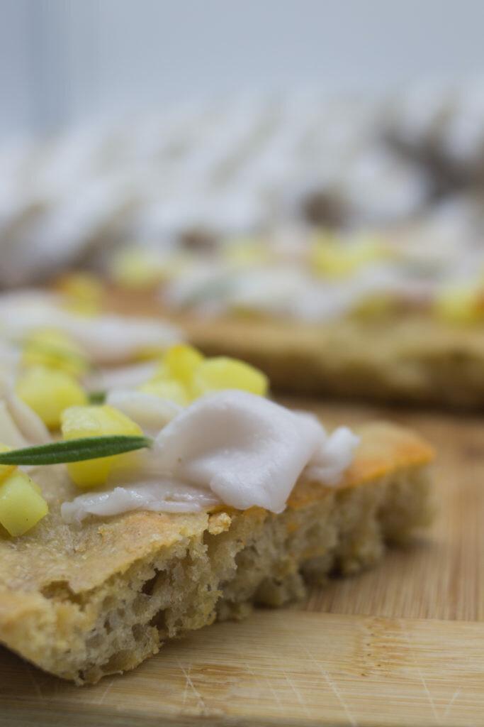 Pizza bianca ai grani antichi con lardo e patate | Preparato Pizza ai Grani Antichi
