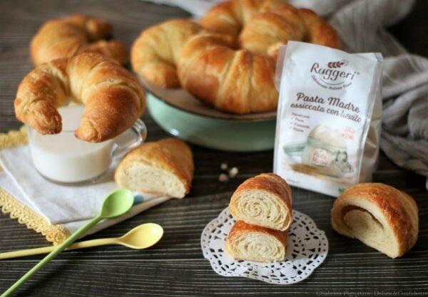 Croissant con burro vegetale | Pasta Madre Essiccata