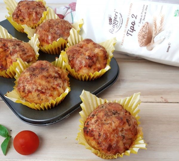 Muffin alla pizzaiola | Farina di Grano Tenero Tipo 2