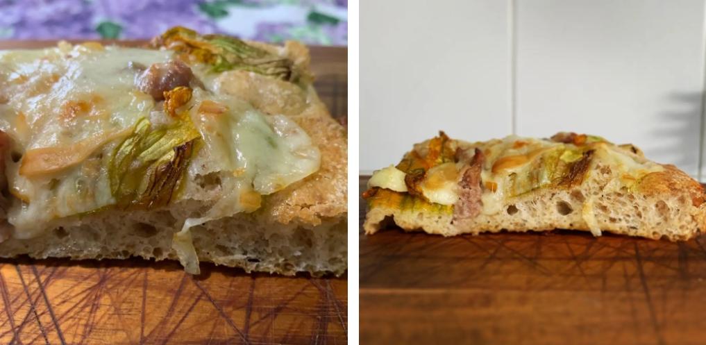 Pizza in pala | Farina di Farro Spelta e Pasta Madre essiccata